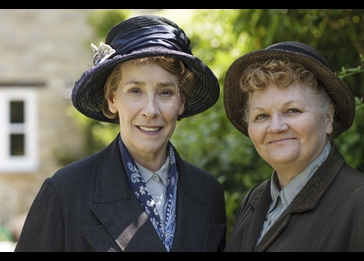 Mrs. Hughes and Mrs. Patmore. Credit: Courtesy of Nick Briggs/Carnival Film & Television Limited 2015 for MASTERPIECE