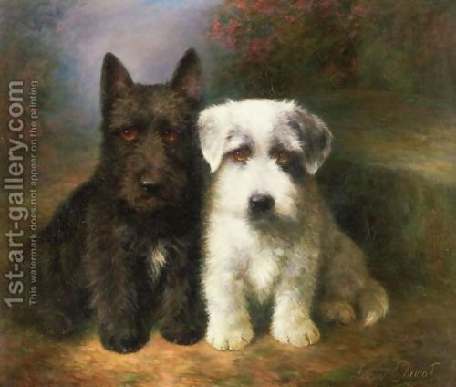 Scottish and a Sealyham terrier by Lillian Cheviot