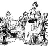 Hugh Thomson image of the five Bennet girls