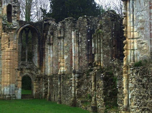 Abbey Church wall and pillars 1