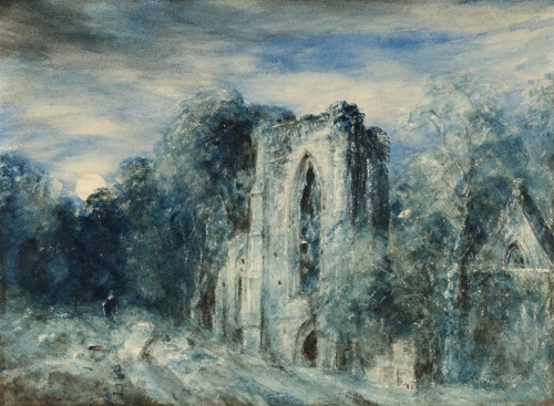 Netley Abbey by Moonlight c.1833 by John Constable 1776-1837