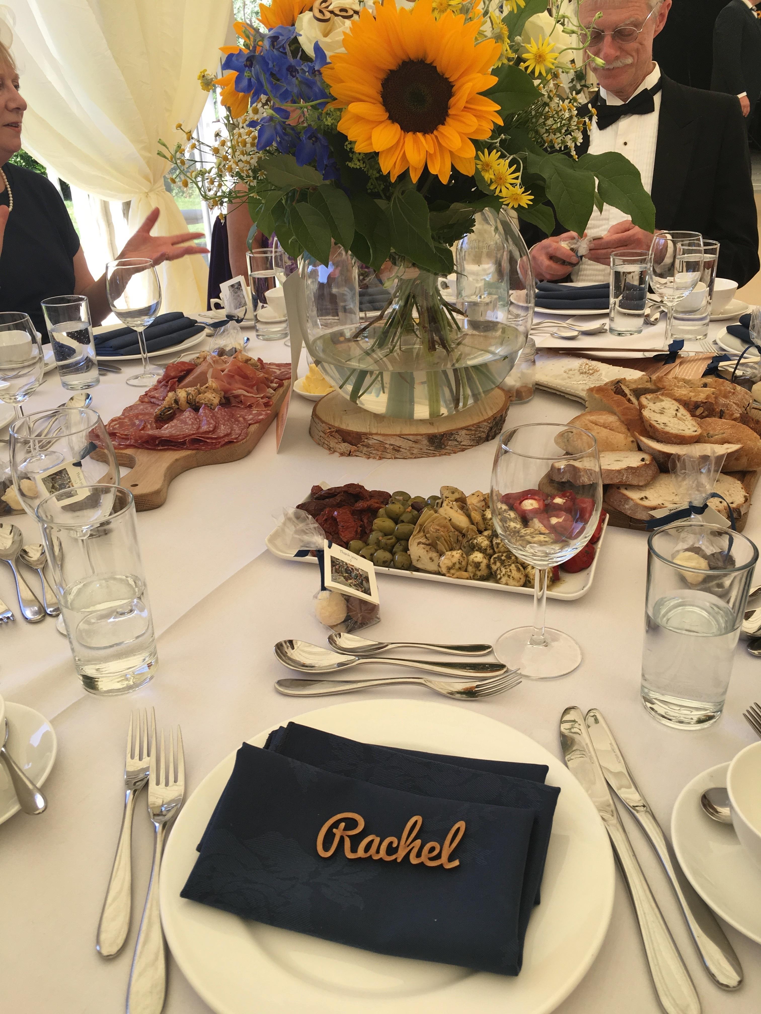 Image of the wedding breakfast