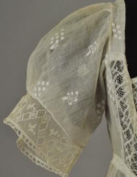 1808 Sprigged Mull Dress