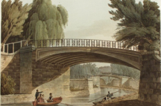 Canal and walks, Sydney Gardens 19th C.