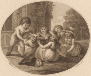 Image of Hunt the Slipper by Francesco Bartolozzi, 1787, Pushkin Museum of Fine Arts (GMII): Image in the public domain. Wikimedia