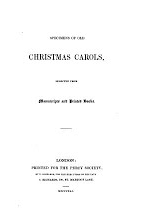 Fronticepiece of Christmas Carols by Thomas Wright, 1841