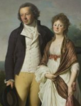 Johan Christian and his wife-Engelke Jens Juel 1797 Statens Museum for Kunst