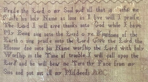 Picture 4 Jane Austen sampler - Psalms