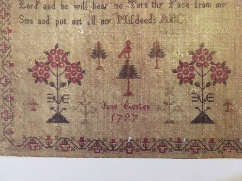 Picture 5 Jane Austen sampler - trees and name and more