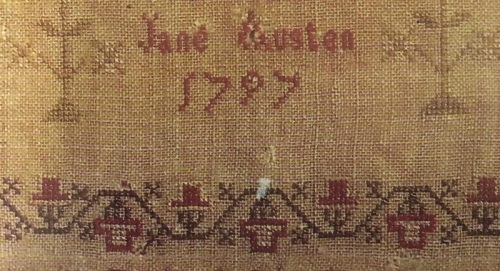 Picture 6 Jane Austen sampler - name and date