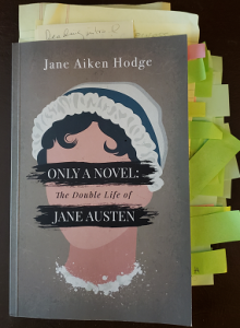 Image of Only a Novel by Jane Aiken Hodge with reviewer notes