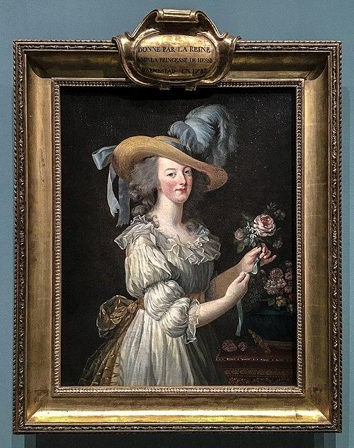 Marie Antoinette in a chemise gown. 1783. Elisabeth Louise Vigée Le Brun. Wikimedia Commons