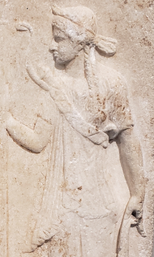 Relief of Apollo and Artemis, ca 50 B.C.
