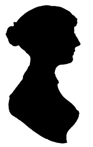 Silhouette of Jane Austen