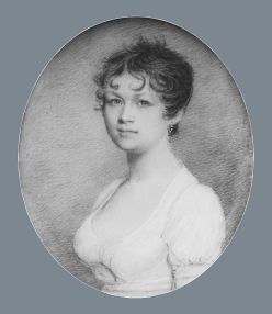 Mrs. Fox,ca. 1805. By Benjamin Trott, American