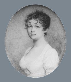 Mrs. Fox,ca. 1805. By Benjamin Trott, American