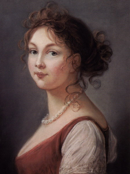 Portrait of Louise, Queen of Prussia by Vigee Lebrun_ ,1801