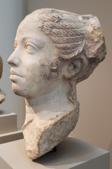 Portrait of a Young Woman. Roman (Egypt?), late Republican period, ca. 50 B.C. Walters Art Museum. Image by V. Sanborn.