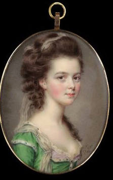 Miniature of Mrs Russell, John Smart. 1781