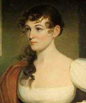 Detail of Mrs John Gibson. Portrait by Jacob Eichholz, ca 1820