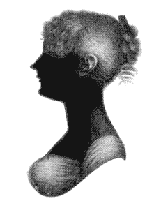 Silhouette of Cassandra Austen as a young woman. (1773-1845), sister of Jane Austen