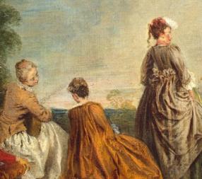 An Embarrassing Proposal, Antoine Watteau , 1715-16,