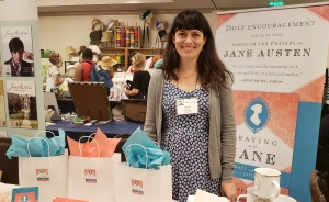 Rachel Dodge, author of Praying With Jane Austen, at the 2019 JASNA AGM in Williamsburg