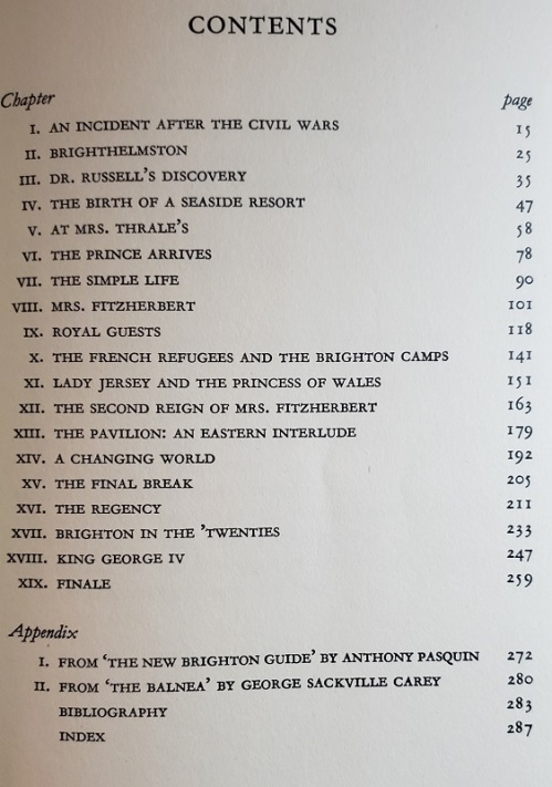 Image of the Table of Contents for Brighton