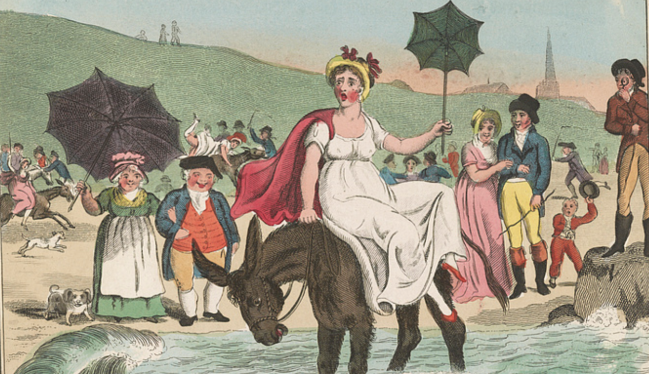 Detail of the illustration by I. Cruikshank (?) News from Worthingo In a Letter from a Beast of Burden to Her Brother Jack By Robert Bloomfield, 1807