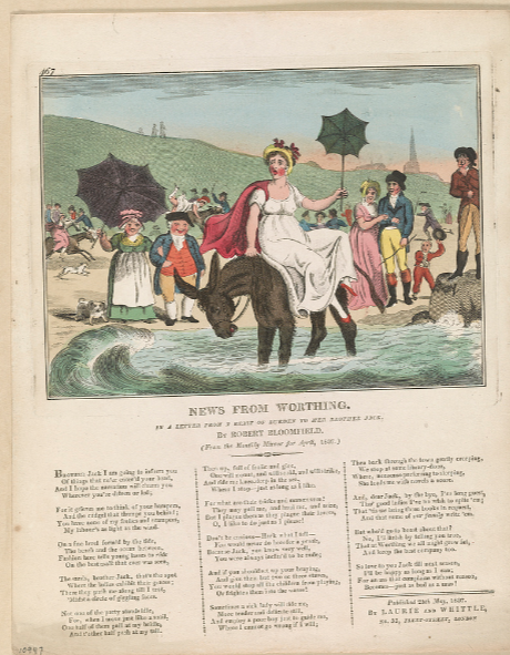 Image of Robert Bloomfield's Letter from a Beast of Burden to Her Brother Jack, 1807, along with an image by I. Cruikshank ?