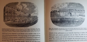 Two illustrations of Regency Ramsgate inside Brighton book