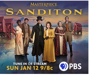 Image of PBS Sanditon announcement starting January 12, 2020