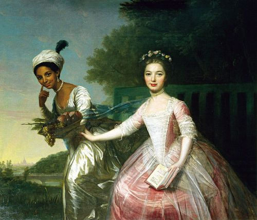 Portrait of Dido Elizabeth Belle Lindsay (1761-1804) and her cousin Lady Elizabeth Murray (1760-1825), David Martin. Wikimedia Commons. This work is in the public domain