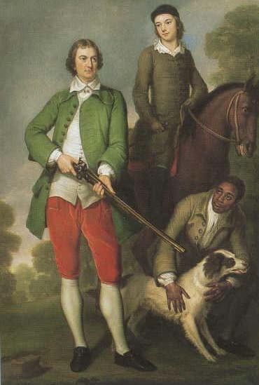 Portrait of The Hon. John Spencer, his son the 1st Earl Spencer, and their slave, Caesar Shaw, ca 1744. Wikimedia Commons. This work is in the public domain.