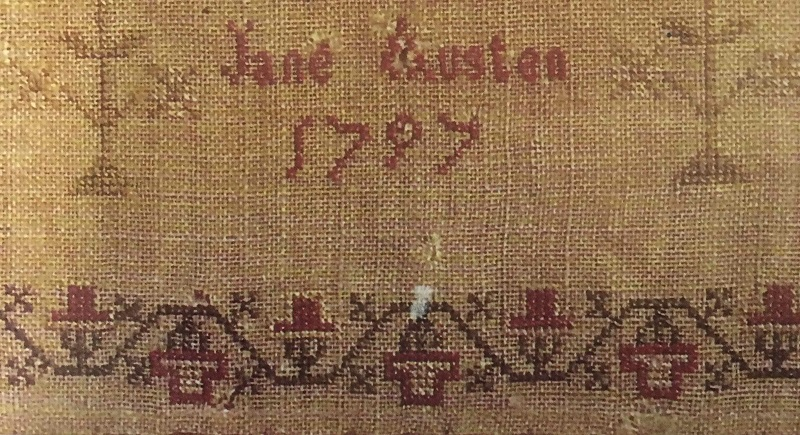 Sampler purportedly embroidered by Jane Austen
