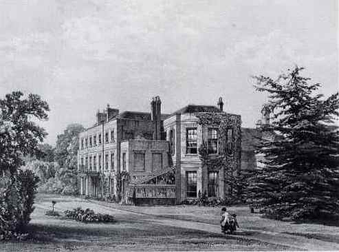 18th century engraving of Manydown Park