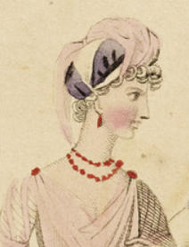 Detail, Fashion Plate, 'Full Dress for Decr. 1798' for 'Lady's Monthly Museum'