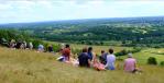 Family picnic on boxhill