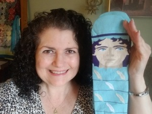 Denise with her new chattyfeet socks