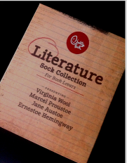 Image of The top of the Literature Sock Collection