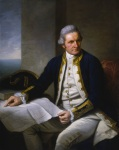 Oil painting of Captain James Cook, by Sir Nathaniel Dance-Holland, c. 1775. National Maritime Museum, Greenwich, public domain image.