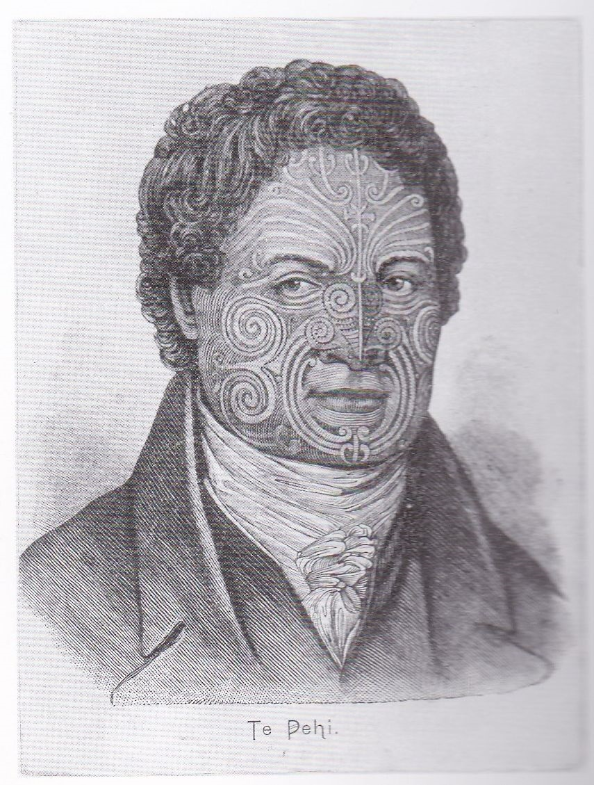 Black and white engraving of Tupai, Tahitian navigator, creative commons, wikimedia
