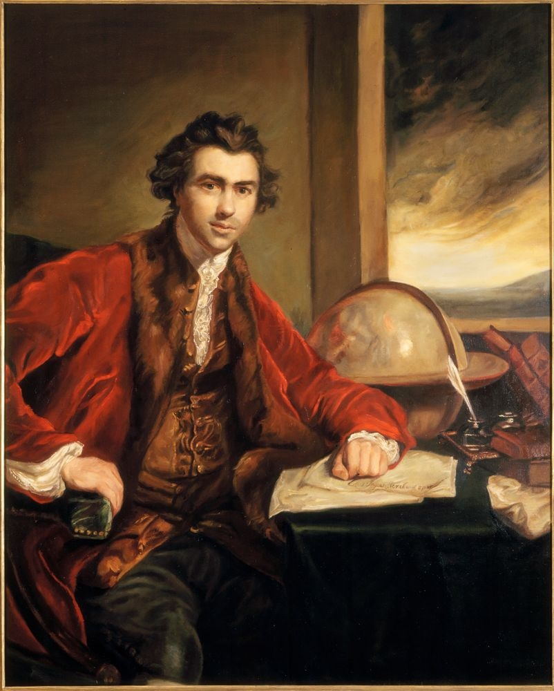 Oil portrait of Joseph Banks, ca 1771-1773, Joshua Reynolds, National Portrait Gallery, Wikimedia Commons, public domain