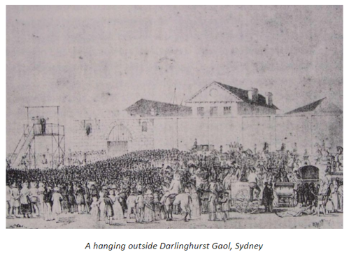 Image of A hanging outside Darlinghurst Gaol, Sydney