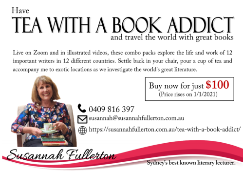 Image of Tea with a Book Addict and travel the world with great books with Susannah Fullerton
