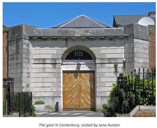 Photo of the gaol in Canterbury visited by Jane Austen