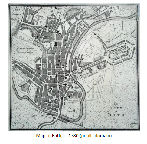 Map of Bath, c. 1780 (public domain)
