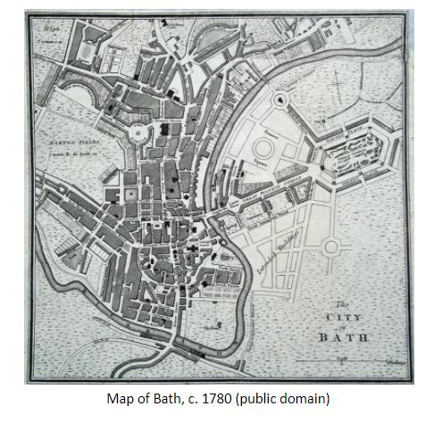 Map of Bath, c. 1780 (public domain)