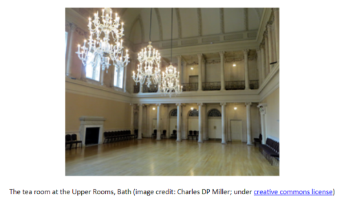Photo of The tea room at the Upper Rooms, Bath (image credit: Charles DP Miller; under creative commons license)