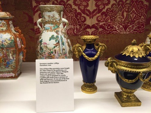 Photo of Some of John Chute's porcelain collection